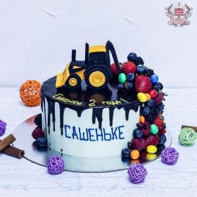 Торт с трактором для мальчика