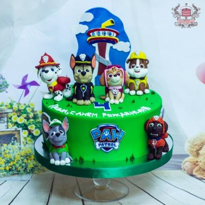 Торт и пряники щенячий патруль