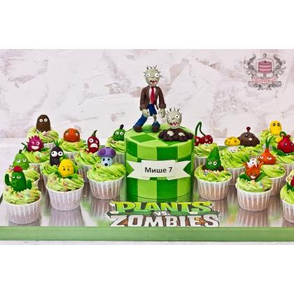 Торт и капкейки зомби