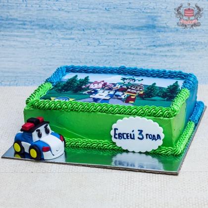 торт без мастики Поли Робокар