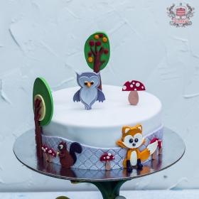 Торт с аппликацией