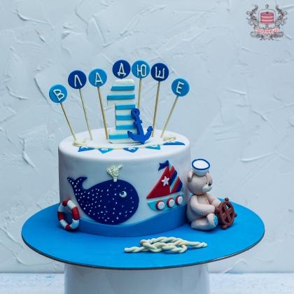 детский торт на морскую тематику