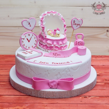 торт на годик для девочке