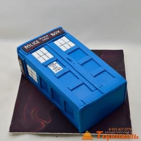 Торт будка Доктор Кто