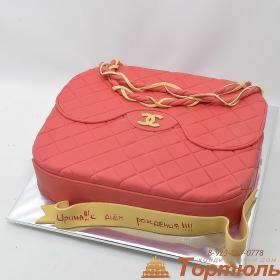 Торт сумка Шанель
