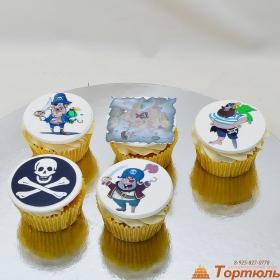 Капкейки с пиратами