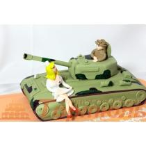 Торт танк для мужчины