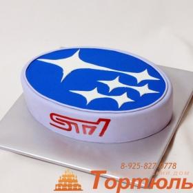 Торт логотип Субару