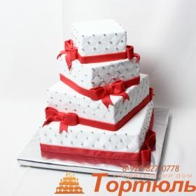 Торт свадебная пирамида