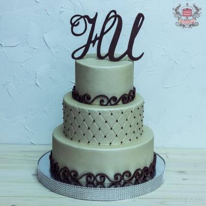 Красивые свадебные торты с инициалами