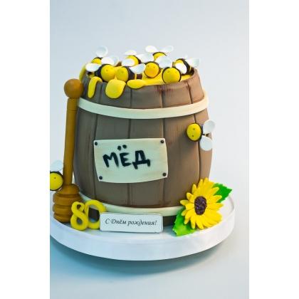 Торт бочка меда