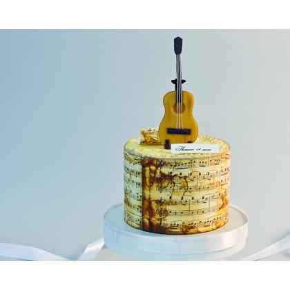 Торт с гитарой