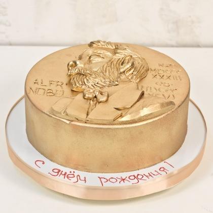 Торт нобелевская премия медаль