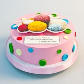 Торт с вязанием 1.3 кг
