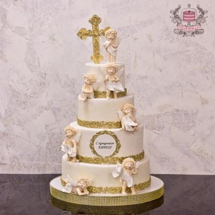 Торт с ангелами