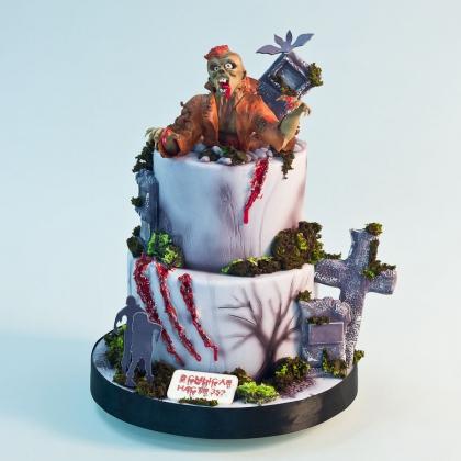Торт с зомби