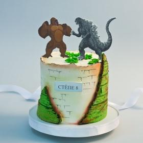 Торт кинконг против годзилы