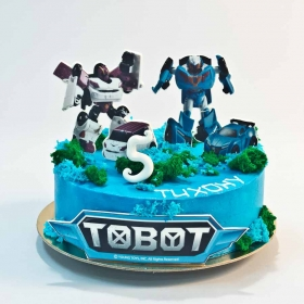 Торт с тоботами