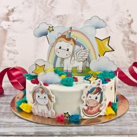 Торт с единорожками 1,3 кг