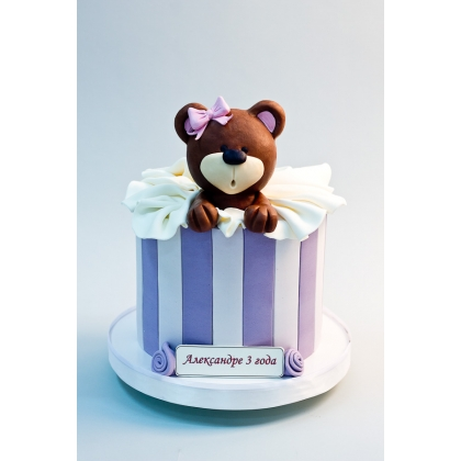 Торт мишка в коробке