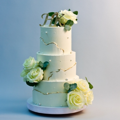 Свадебный торт без мастики