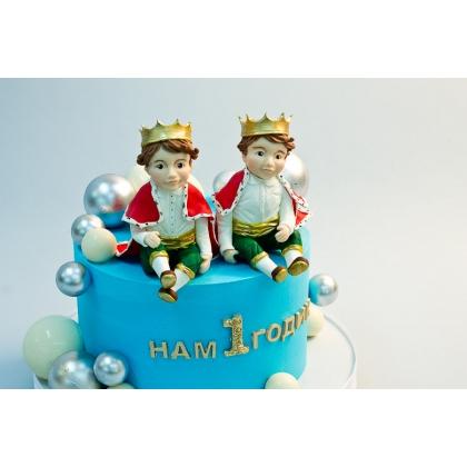 Торт на годик для близнецов