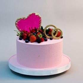 Торт с велюром