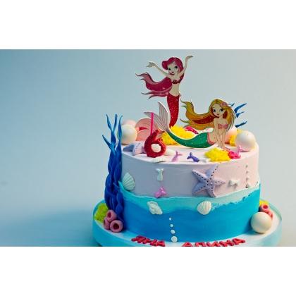 Торт с русалками