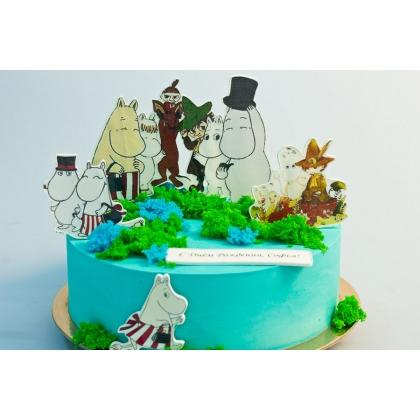 Торт Муми-тролли