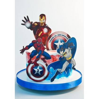 Торт супергерои