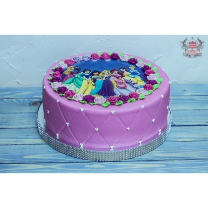 Торт принцессы дисней