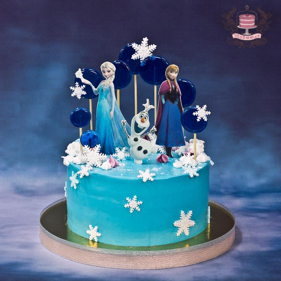 фото окультуренную торт в стиле холодное сердце фото вкусный