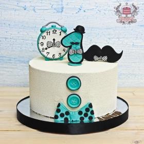 Торт на годик без мастики