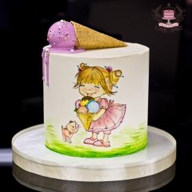 Торт с рисунком без мастики
