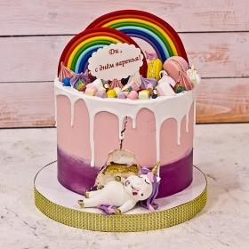 Торт с единорожкой