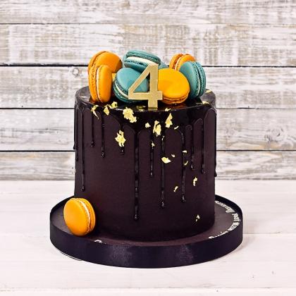 Торт черный на день рождения