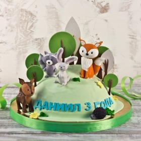 Торт с животными