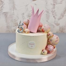 Торт с короной без мастики