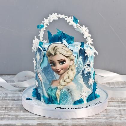 Торт Холодное сердце без мастики