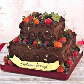 Торт на юбилей без мастики