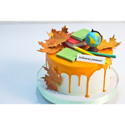 Торт учителю без мастики