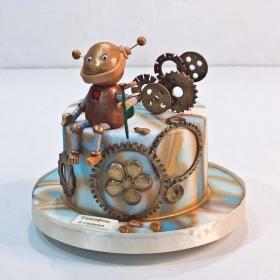 Торт с роботом
