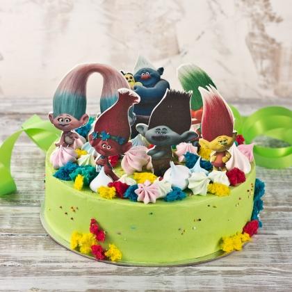 Торт с троллями