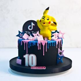Торт тик ток и пикачу