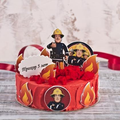 Торт пожарный Сэм