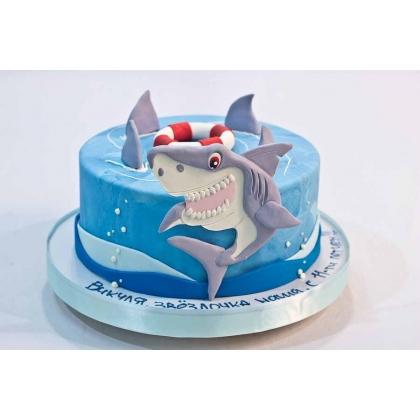 Торт с акулой