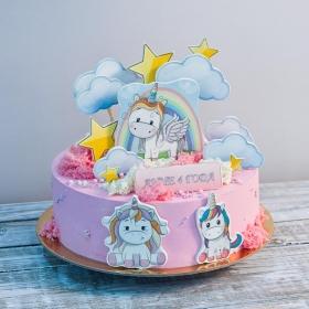 Торт единорожки