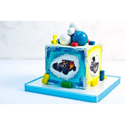 Торт с лего техника