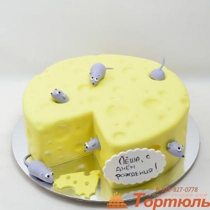 Торт сыр и мышки