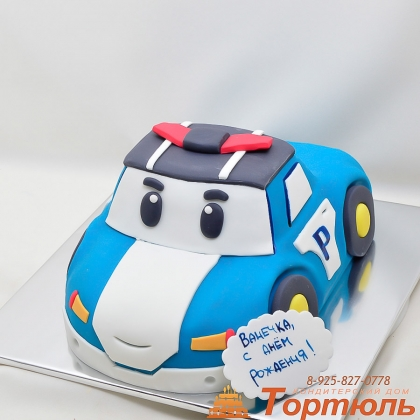 Торт Поли робокар